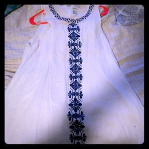 Forever 21 White Sleeveless Dress